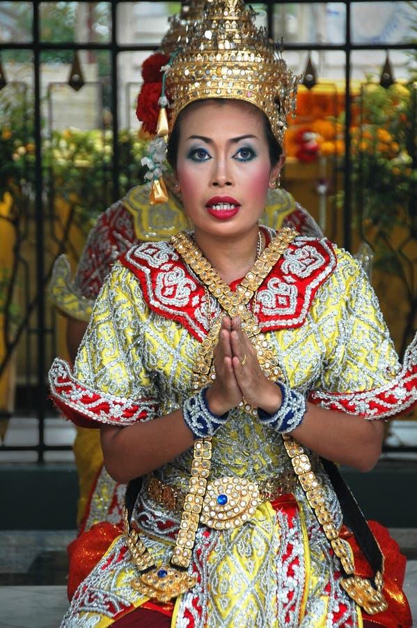 Performer at Songkran Festival in Bangkok stock photography