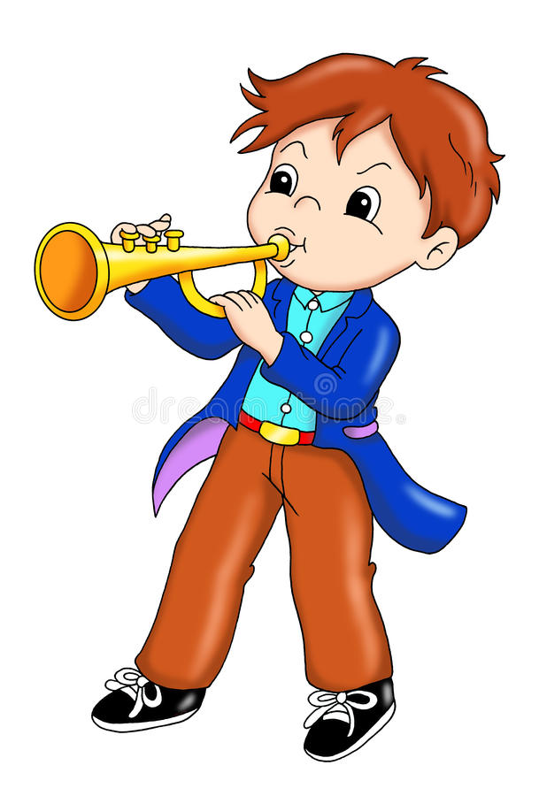 Performer of trumpet stock photos