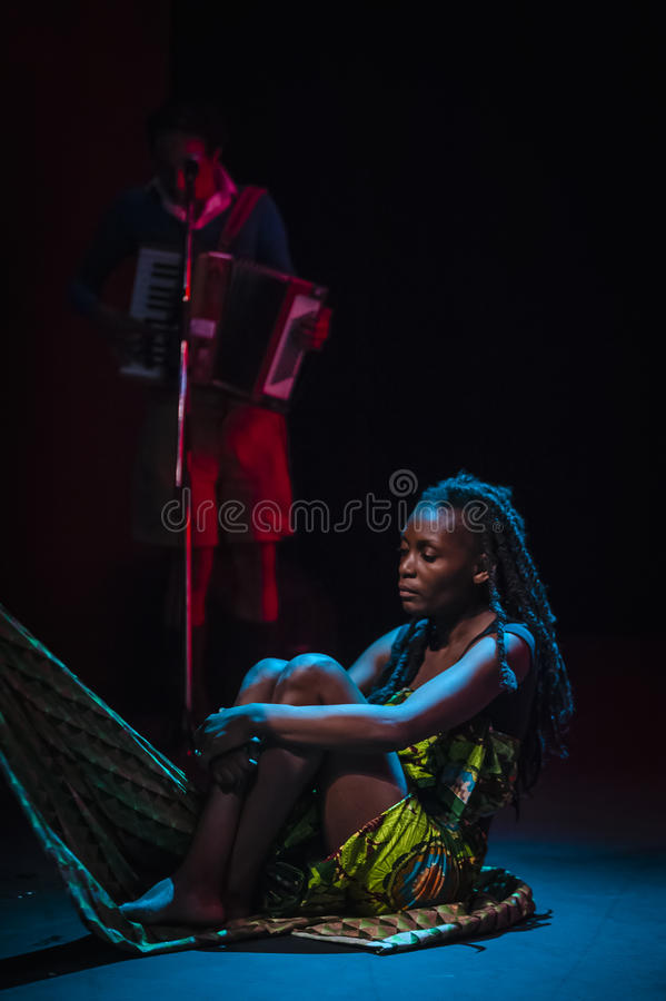 Download Performers Acting On Stage In Dark Studio Editorial Stock Photo - Image: 58605283