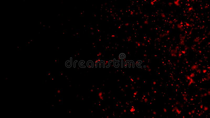 Perftect red particles embers on background. Abstract dark glitter fire particles lights texture or texture overlays. Design. Perftect red particles embers on vector illustration