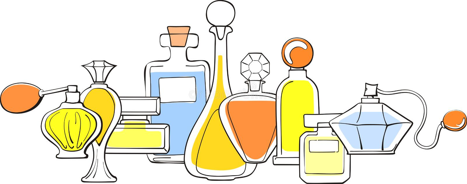 Download Perfume stock vector. Image of spray, liquid, objects - 20322090