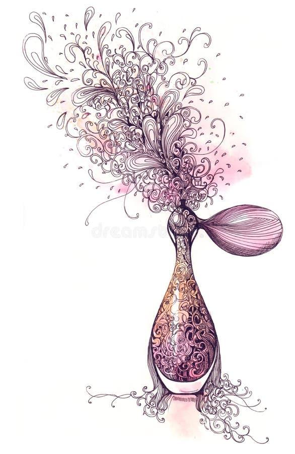 Perfume ilustração stock