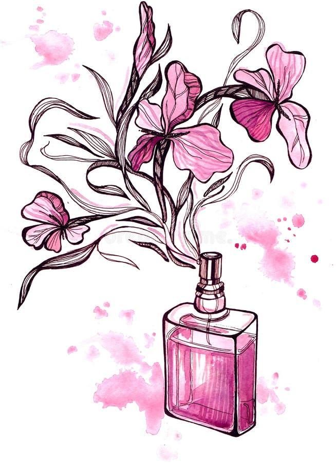 Perfume ilustración del vector