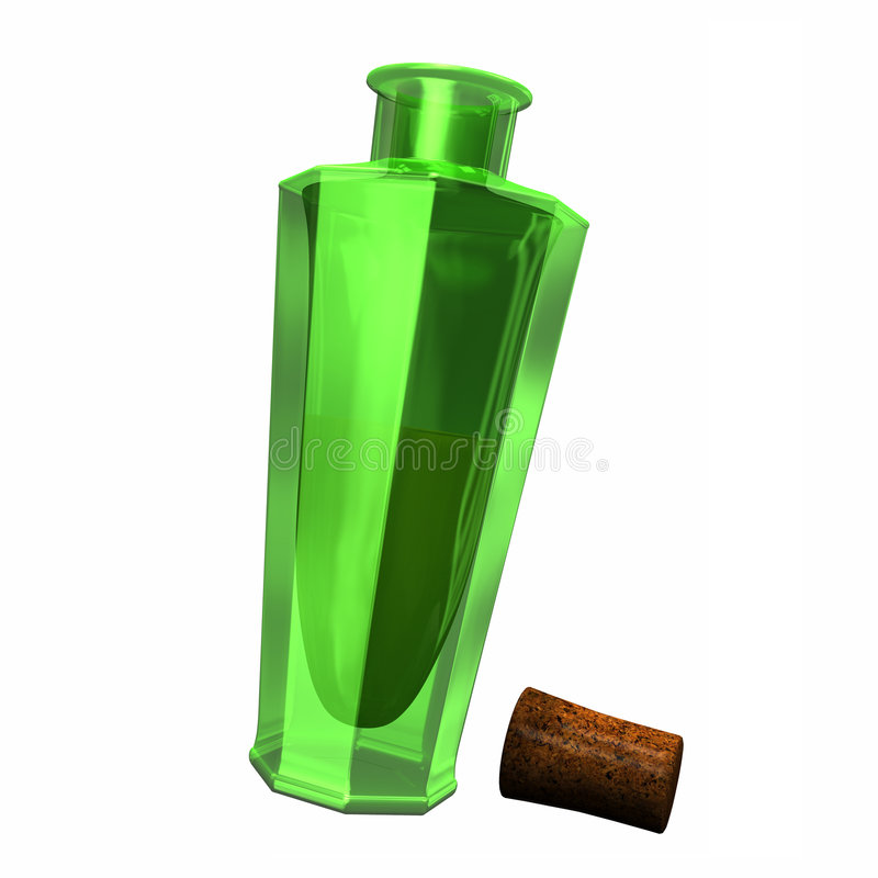 Perfume Bottle with Cork stock images