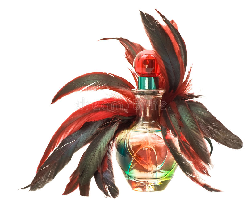 Download Perfume Bottle With Feathers Stock Photo - Image: 5470336
