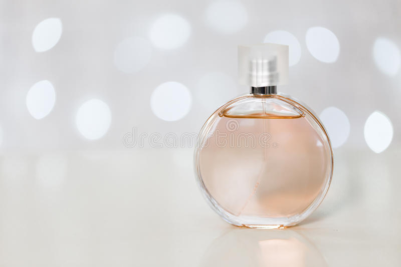 Perfume bottle. Women's fragrances, various perfume bottles royalty free stock photos
