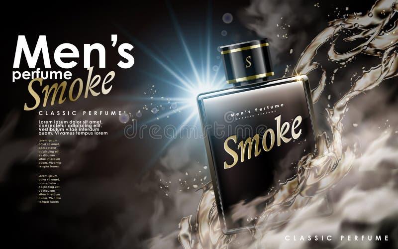 Perfume clássico do fumo ilustração royalty free