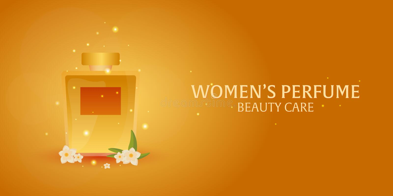 Perfume do ` s das mulheres da bandeira Cuidado da beleza Garrafa clássica do perfume Aromaterapia luxuosa líquida da fragrância  ilustração do vetor