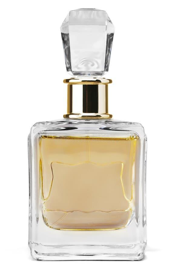 Perfume do ` s das mulheres na garrafa isolada no branco foto de stock