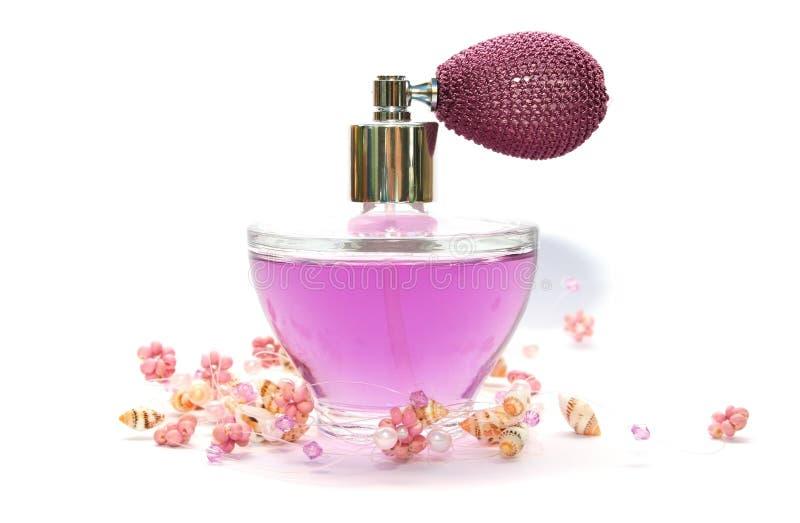 Perfume e colar imagem de stock