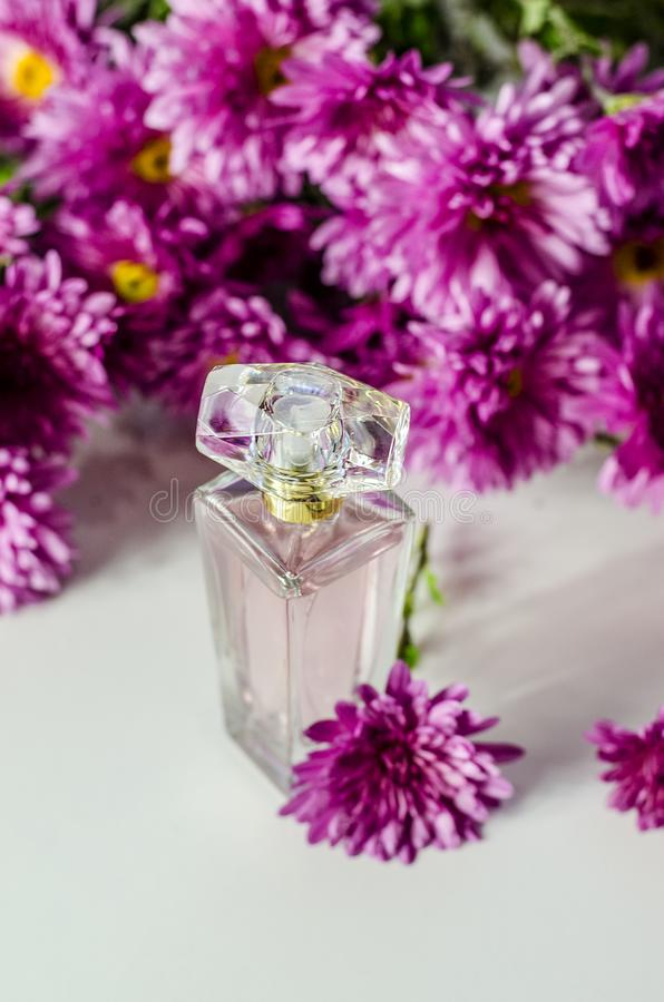 Perfume with floral scent stock photography