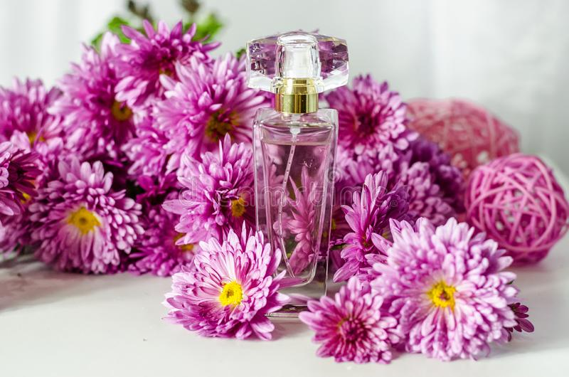 Perfume with floral scent royalty free stock images