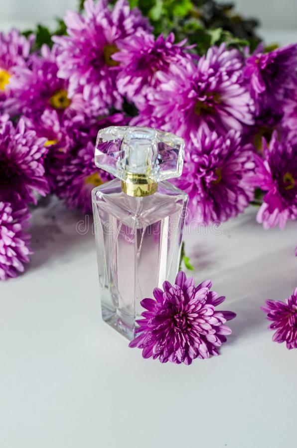Perfume with floral scent royalty free stock photo