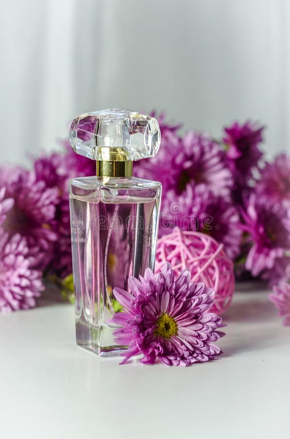 Perfume with floral scent stock photos