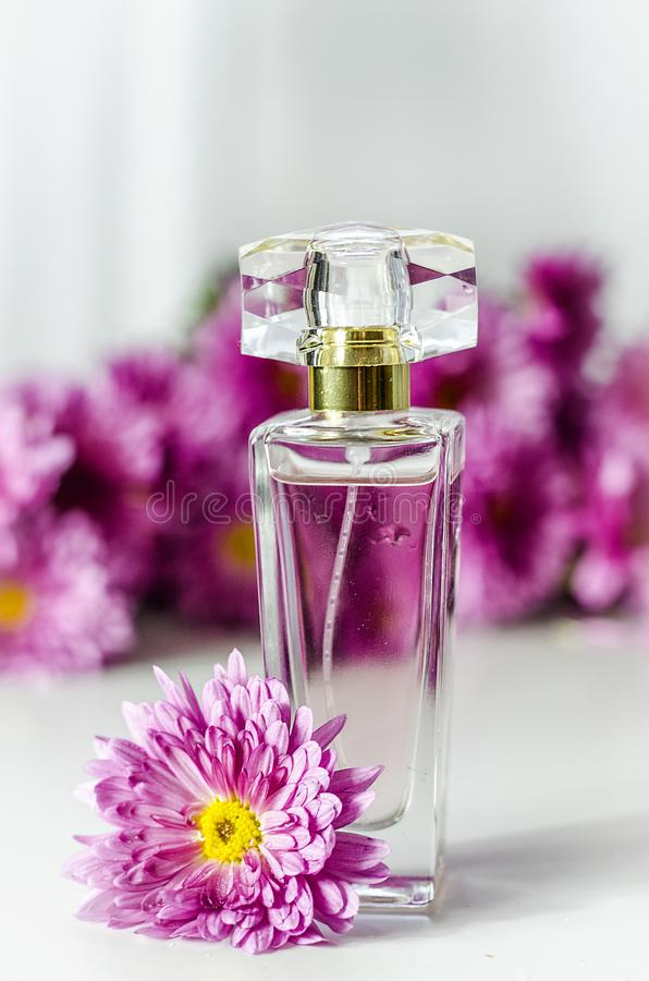 Perfume with floral scent royalty free stock photos