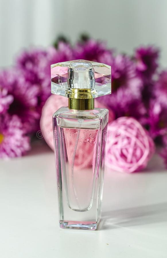Perfume with floral scent stock photo
