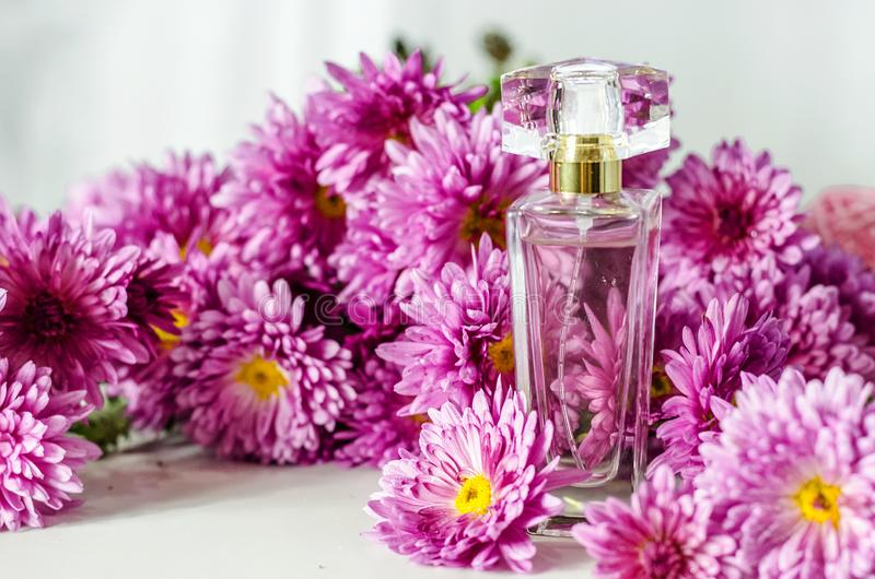 Perfume with floral scent royalty free stock image