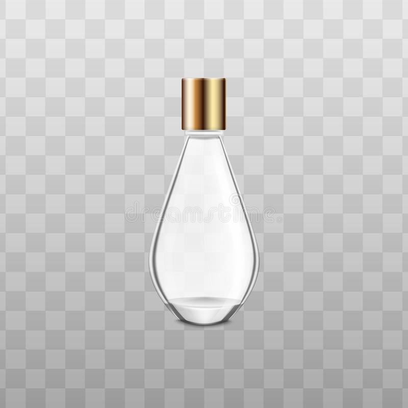 Perfume or fragrance bottle mockup realistic vector illustration . royalty free illustration