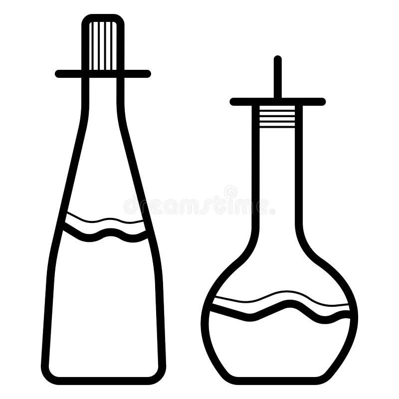 Perfume, fragrance bottles vector illustration