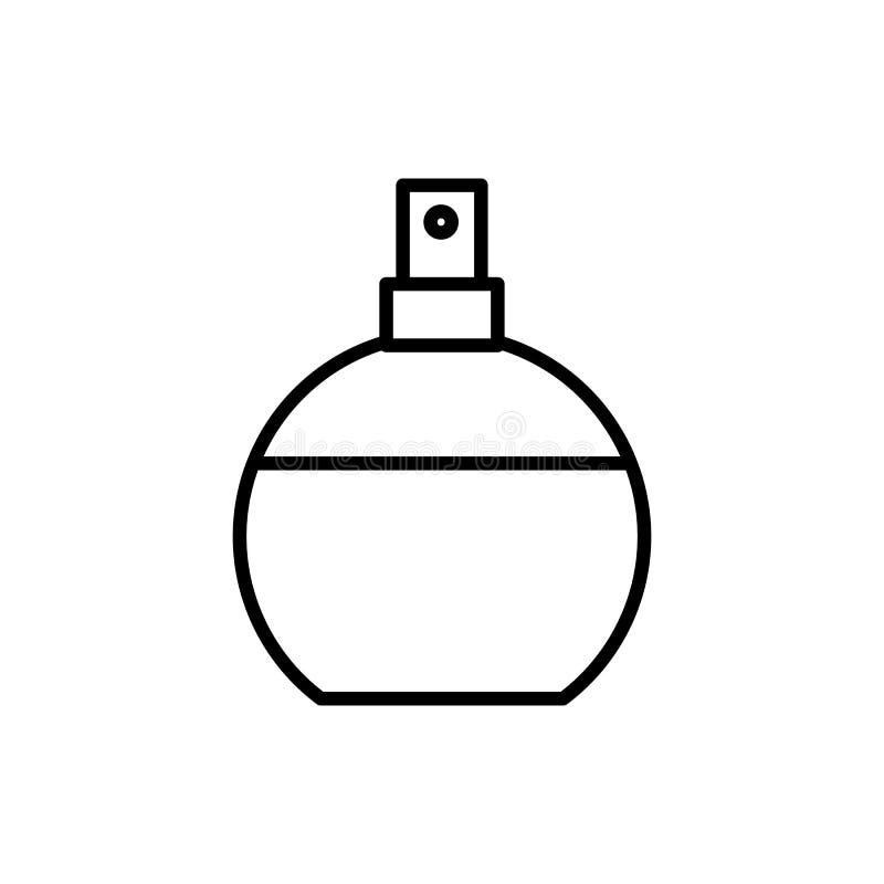 Perfume a linha ícone do vetor, sinal, ilustração no fundo, cursos editáveis ilustração do vetor