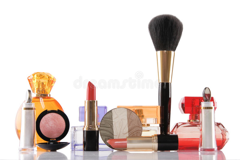 Perfume and make-up, beauty concept royalty free stock photos