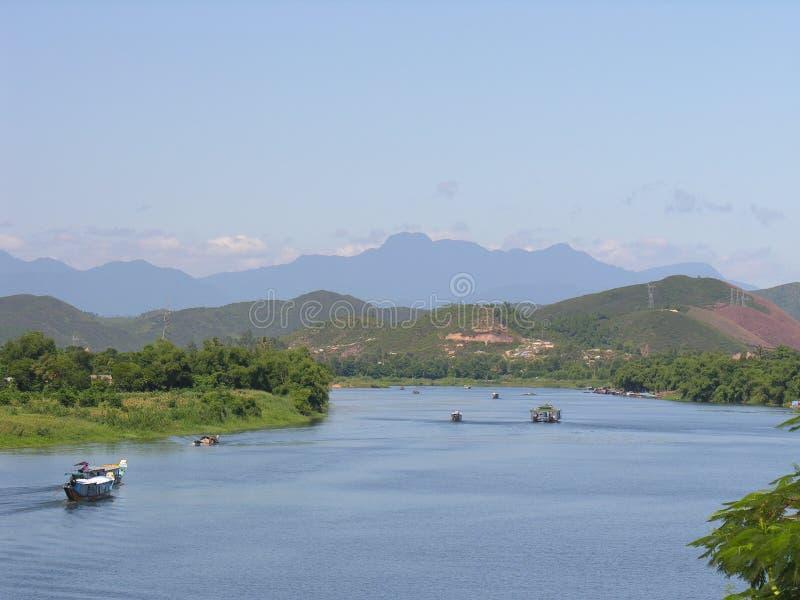 Perfume river in Vietnem stock images