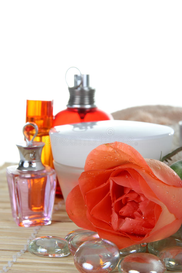 Download Perfume and rose stock photo. Image of aromatherapy, background - 12686952