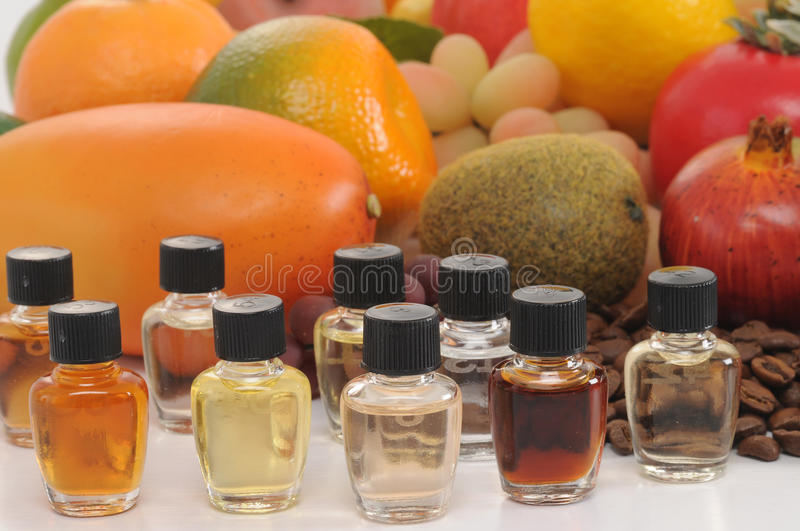 Perfume samples. stock images