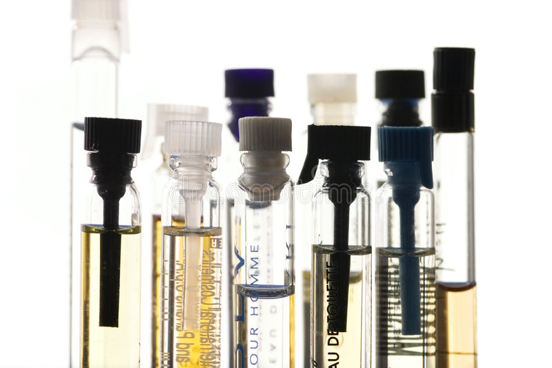 Perfume samples royalty free stock image