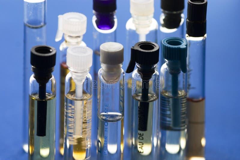 Perfume samples royalty free stock photography