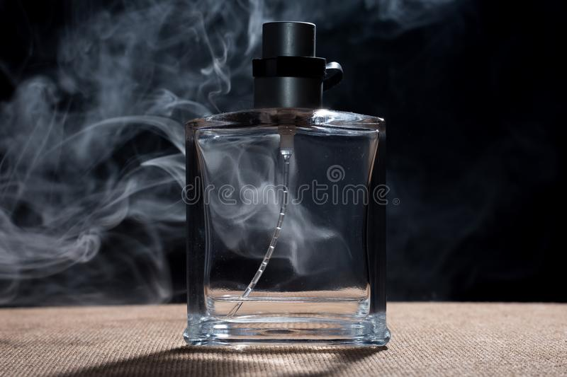 Perfume and smoke royalty free stock photo