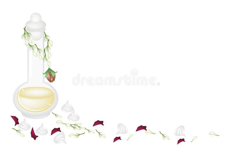 Perfume and Soft Prepared Chalk for Songkran Festi royalty free illustration