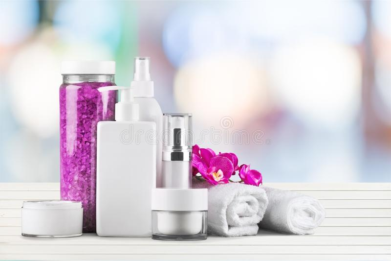 Perfume y cosméticos fotografía de archivo libre de regalías