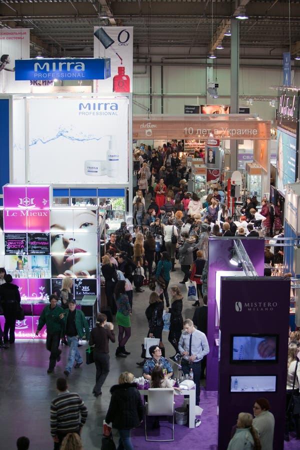 Perfumery internacional e exposição dos cosméticos mim imagem de stock