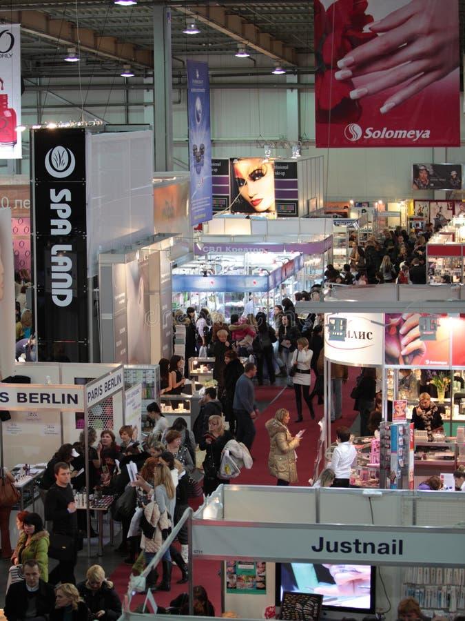 Perfumery internacional e exposição dos cosméticos mim imagens de stock royalty free