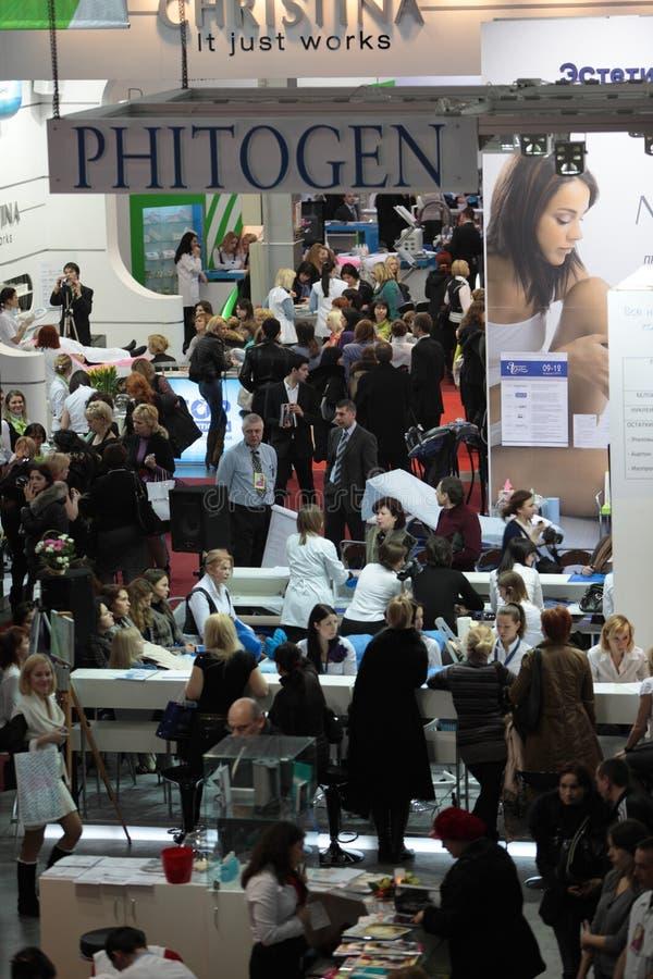 Perfumery internacional e exposição dos cosméticos mim imagens de stock