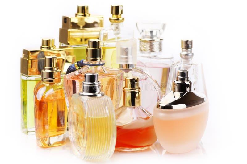 Perfumes set stock photo