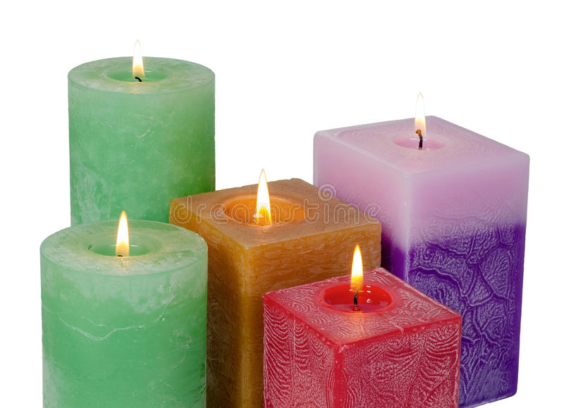 Perfumowe świeczki obraz royalty free