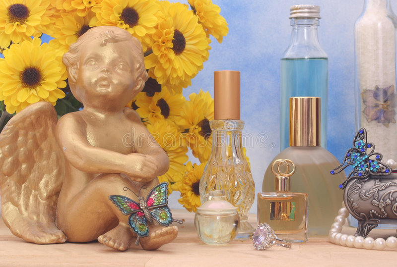 perfumy biżuterii obraz royalty free