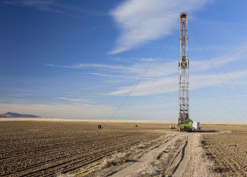 Perfuração de Fracking em Colorado fotos de stock