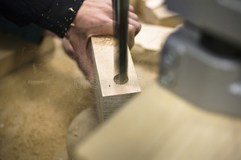 Perfuração de madeira foto de stock