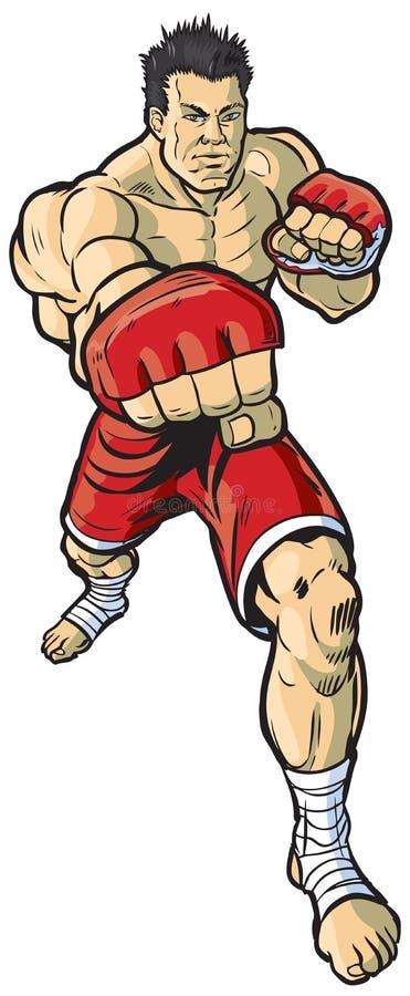 Perfurador de jogo do lutador do Muttahida Majlis-E-Amal ilustração do vetor