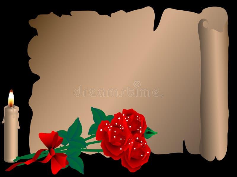 Pergamena illustrazione vettoriale