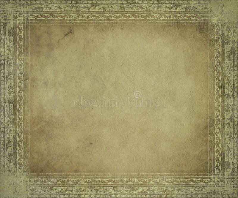 Pergamena antica chiara con il blocco per grafici illustrazione di stock