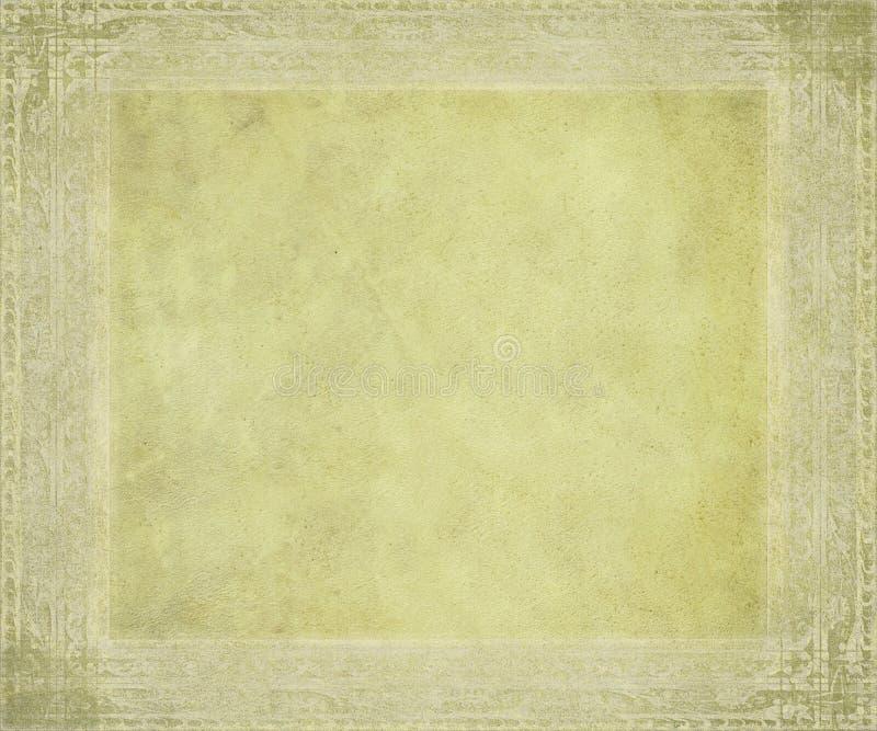 Pergamena antica con il blocco per grafici impresso fotografie stock libere da diritti