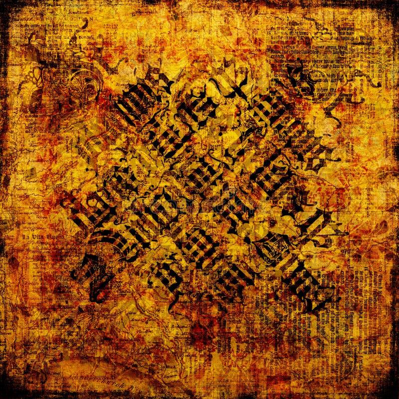 Pergamena antica - priorità bassa Grungy royalty illustrazione gratis