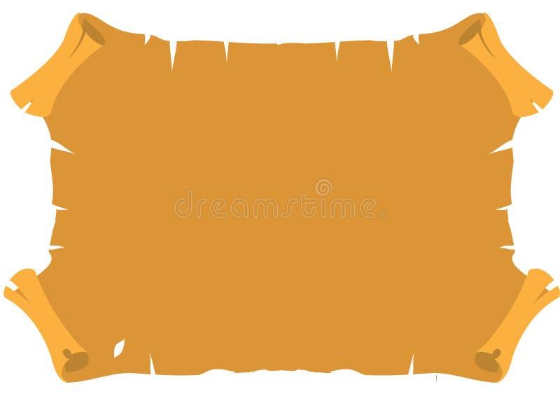 Pergamena antica Vecchia carta d'annata con i bordi lacerati Fondo di lerciume royalty illustrazione gratis