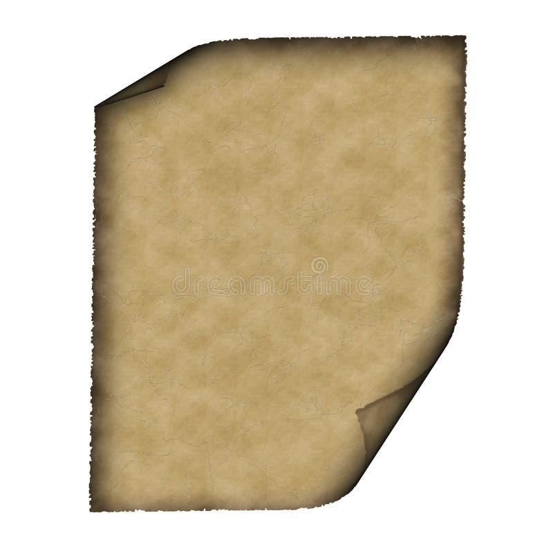 Pergamena dell'annata illustrazione vettoriale