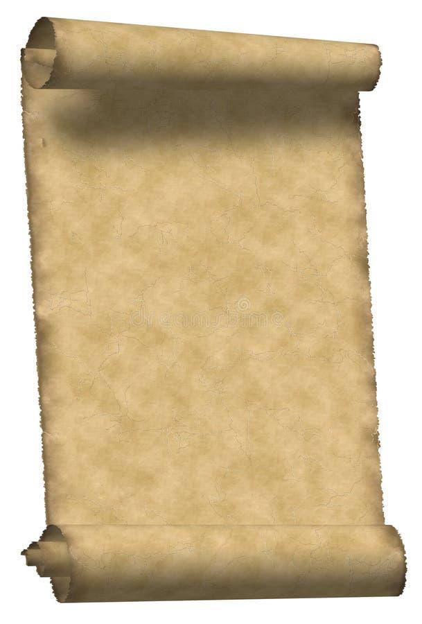 Pergamena dell'annata illustrazione di stock