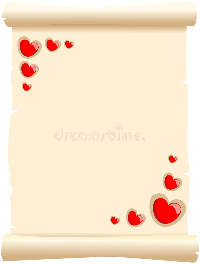 Pergamena di amore illustrazione di stock